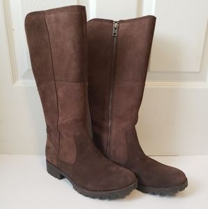 Timberland brown suede tall riding boots